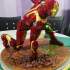 Iron Man MK43 - Super Hero Landing Pose - with lights - MINIMAL SUPPORTS EDITION print image