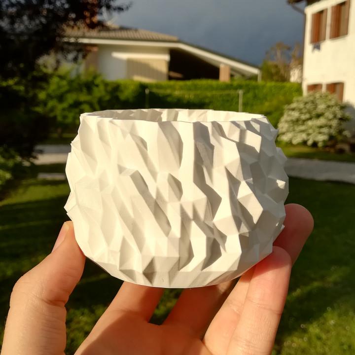 Crystallised vase