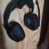Simple wall mounted headphone holder image