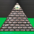 Worn Stone Illuminati Pyramid Box with SECRET COMPARTMENT image