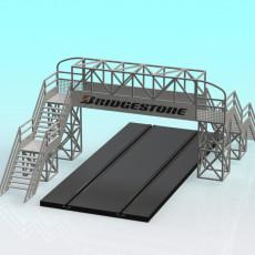230x230 slot car 2 lane footbridge