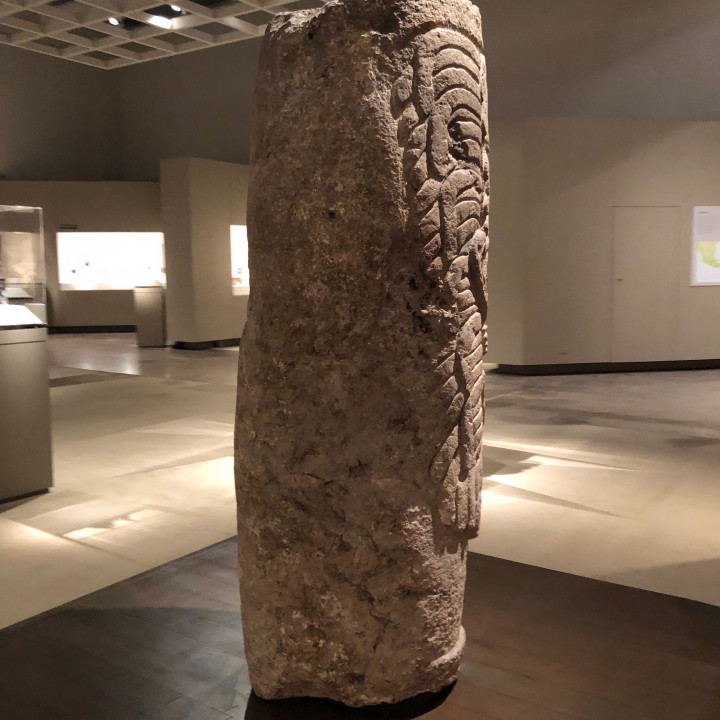 Column, Costumed Figure