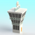 Slot car control tower 1:32 scale image