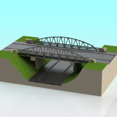 Slot car Warren Truss Arch bridge 1:32 scale