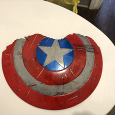 Picture of print of Broken Captain America Shield