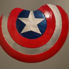 Picture of print of Broken Captain America Shield