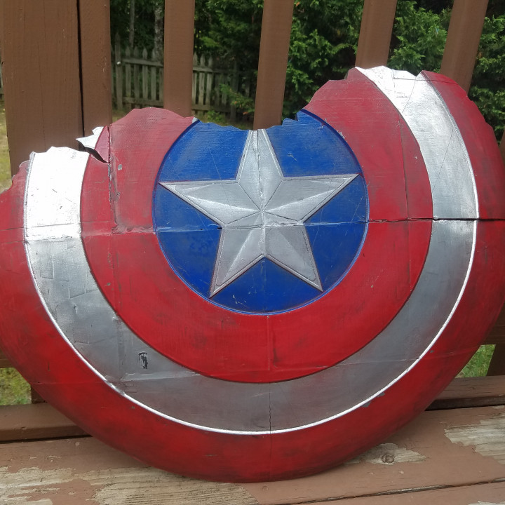 3d Printable Broken Captain America Shield By T E C
