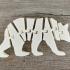 Flexi Articulated Mini Bear print image