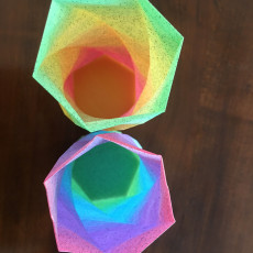 Picture of print of Multicolor Gradient Hexagonal Filament