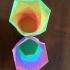 Multicolor Gradient Hexagonal Filament print image