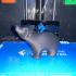 Bear figurine print image