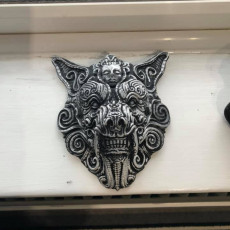 Picture of print of ornate wolf