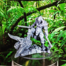 Picture of print of Barbarian Dragon Slayer (32mm scale miniature)