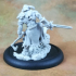 Barbarian Dragon Slayer (32mm scale miniature) image