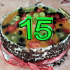 Birthday cake digits image