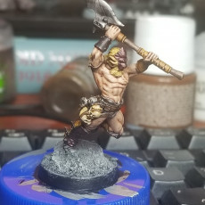 Picture of print of The Lion God, Champion of the Arena (32mm scale miniature)
