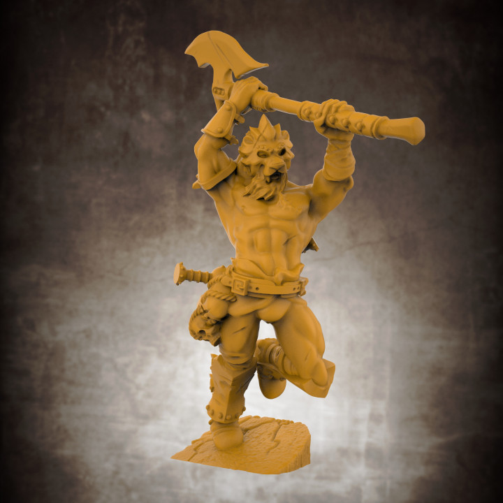 The Lion God, Champion of the Arena (32mm scale miniature)