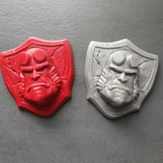 Hellboy badge