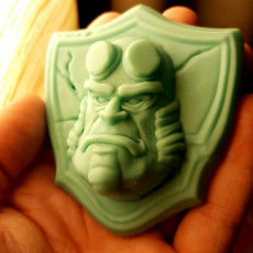 Picture of print of Hellboy badge