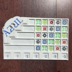 Azul Game Board with Point Counter