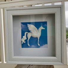 Picture of print of Majestic Alicorn (Flying Unicorn)