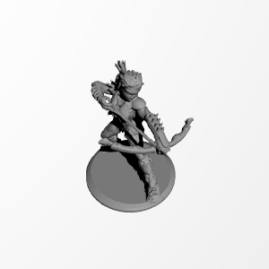 3D Printable Female Barbarian in +3 Chauvinistic Armor by