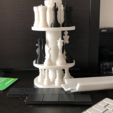 Picture of print of 3D Printed Chess Set with Roll-up Board & Carrying Case Esta impresión fue cargada por Samet Özkan