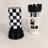 3D Printed Chess Set with Roll-up Board & Carrying Case image