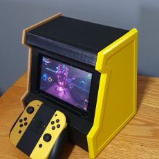 Picture of print of Nintendo Switch arcade box
