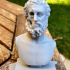 Bust of an unknown philosopher print image