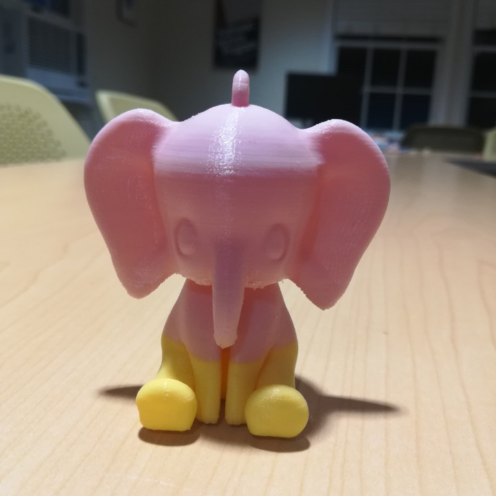 Cute Elephant Keychain