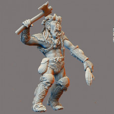 Orc Chief Attacking with Human Arm