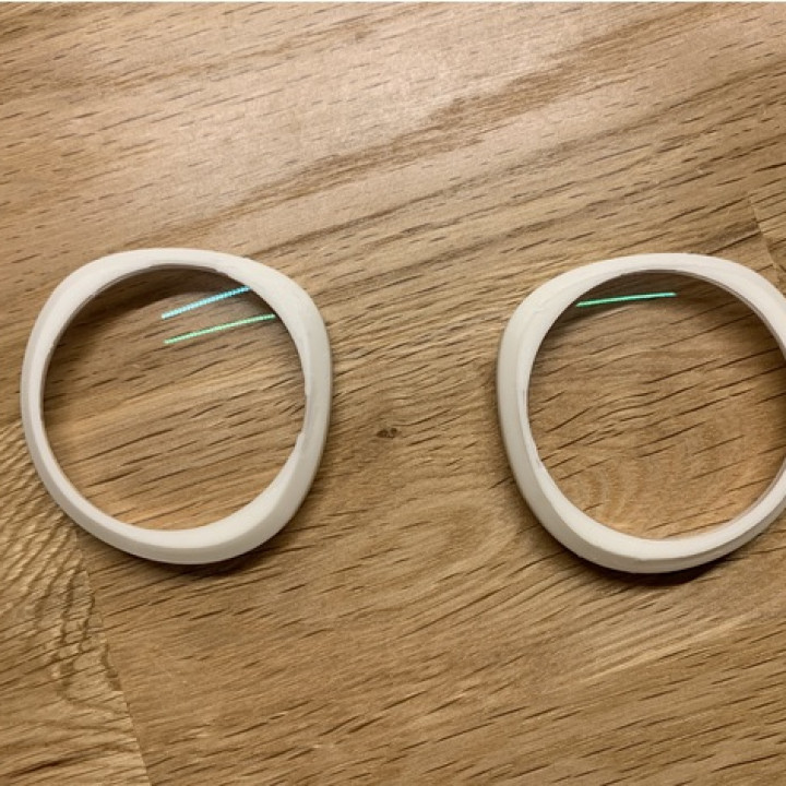 3D Printable Oculus prescription lens adaptor (Go, Quest and Rift S