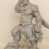 Savage Orc Warrior print image