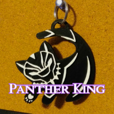 The Panther King  Keychain