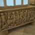 Sarcophagus with depiction of a drunken Hercules joining Dionysus in procession image