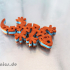 Flexi Articulated Mini Gecko Keychain Dual Color image
