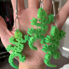 Picture of print of Flexi Articulated Mini Gecko Keychain