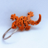 Flexi Articulated Mini Gecko Keychain image