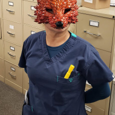 Picture of print of Poly Fox Mask