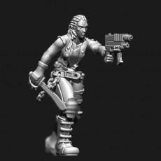 female human Street samurai from shadowrun rpg