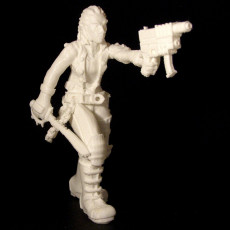 Picture of print of female human Street samurai from shadowrun rpg