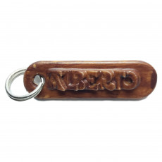 ALBERTO Personalized keychain embossed letters