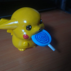 Picture of print of Pokemon Pikachu baby with candy_pokemon