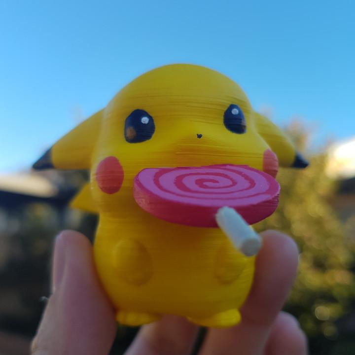 Pokemon Pikachu baby with candy_pokemon
