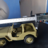 Jeep Willys 3d printed model at 1/20 scale print image