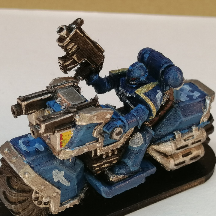 Space marine bike squad miniature