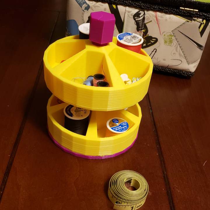 Stackable Small Parts/Supplies Organizer Turntable