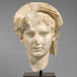 Marble head of a veiled man image