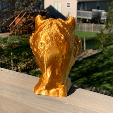 Picture of print of TIGER BUST SCULPTURE